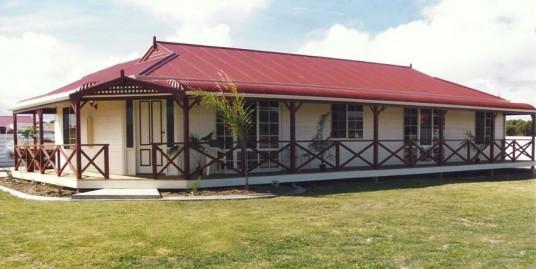 COLONIAL HOUSE STYLE WITH BULLNOSE VERANDAHS AND DUTCH GABLES